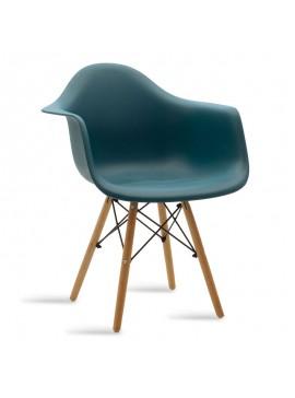 Πολυθρόνα Julita pakoworld πολυπροπυλενίου χρώμα σκούρο μπλε - φυσικό 029-000045
