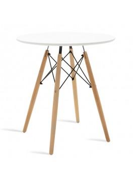 Τραπέζι Julita pakoworld Φ70 επιφάνεια MDF λευκό 029-000078
