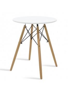 Τραπέζι Julita pakoworld Φ60 επιφάνεια MDF λευκό 029-000079