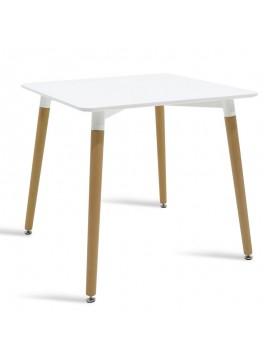 Τραπέζι Natali τετράγωνο MDF χρώμα λευκό 80x80x76εκ 029-000080