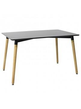 Τραπέζι Natali pakoworld επιφάνεια MDF μαύρο gloss 120x80x76εκ 029-000094