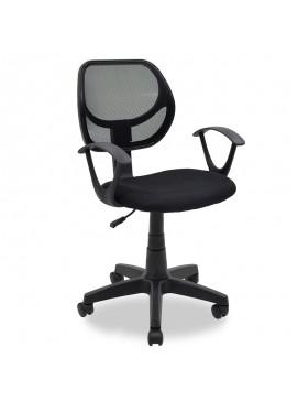 Παιδική καρέκλα εργασίας Sara pakoworld με ύφασμα mesh χρώμα μαύρο 034-000006