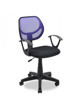 Παιδική καρέκλα Sara pakoworld με ύφασμα mesh χρώμα μαύρο-μωβ 034-000007