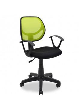 Παιδική καρέκλα Sara pakoworld με ύφασμα mesh χρώμα μαύρο-πράσινο 034-000008