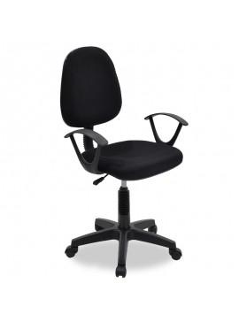 Καρέκλα γραφείου εργασίας Maria pakoworld με ύφασμα mesh χρώμα μαύρο 034-000011
