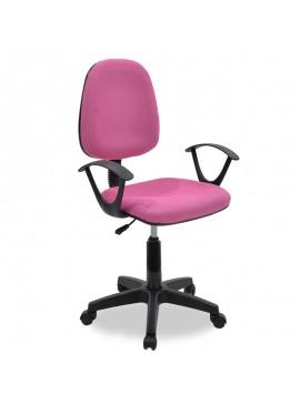 Καρέκλα γραφείου εργασίας Maria pakoworld με ύφασμα mesh χρώμα ροζ 034-000015