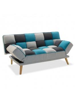 Καναπές - κρεβάτι Andy pakoworld 3θέσιος με ύφασμα πολύχρωμο 178x91x86εκ 035-000026