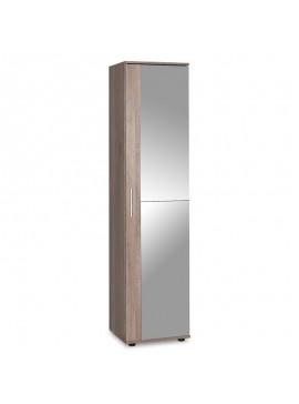 Έπιπλο εισόδου-παπουτσοθήκη Porto pakoworld με καθρέπτη 20 ζεύγων χρώμα latte 45x36x187εκ 039-000044