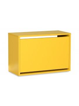 Παπουτσοθήκη ανακλινόμενη Step 6 ζεύγων pakoworld σε χρώμα κίτρινο 60x30x42εκ 039-000057