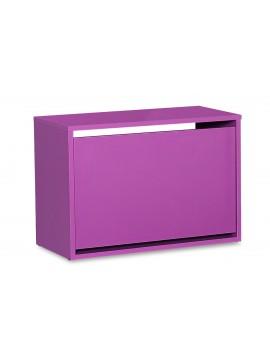 Παπουτσοθήκη ανακλινόμενη Step 6 ζεύγων pakoworld σε χρώμα μωβ 60x30x42εκ 039-000059