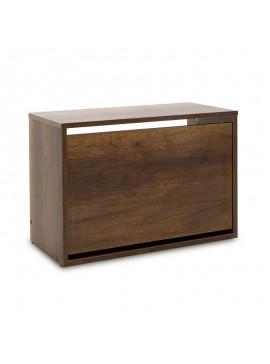 Παπουτσοθήκη ανακλινόμενη Step 6 ζεύγων pakoworld σε χρώμα olso καρυδί 60x30x42εκ 039-000060