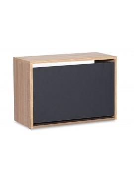 Παπουτσοθήκη ανακλινόμενη Step 6 ζεύγων pakoworld σε χρώμα sonoma-ανθρακί 60x30x42εκ 039-000061