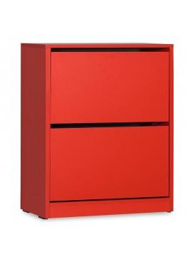 Παπουτσοθήκη ανακλινόμενη Step 12 ζεύγων pakoworld σε χρώμα κόκκινο 73x26x84εκ 039-000064