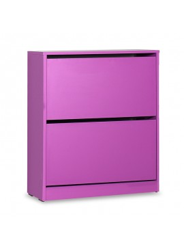 Παπουτσοθήκη ανακλινόμενη Step 12 ζεύγων pakoworld σε χρώμα μωβ 73x26x84εκ 039-000066