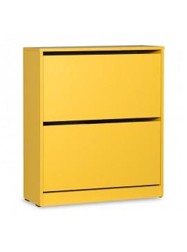 Παπουτσοθήκη ανακλινόμενη Step 12 ζεύγων pakoworld σε χρώμα κίτρινο 73x26x84εκ 039-000067
