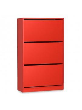 Παπουτσοθήκη ανακλινόμενη Step 18 ζεύγων pakoworld σε χρώμα κόκκινο 73x26x119εκ 039-000069