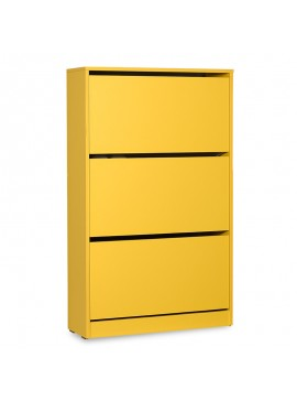 Παπουτσοθήκη ανακλινόμενη Step 18 ζεύγων pakoworld σε χρώμα κίτρινο 73x26x119εκ 039-000072