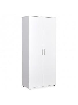 Ντουλάπα ρούχων Trend pakoworld δίφυλλη χρώμα λευκό 80x47x187εκ 039-000119