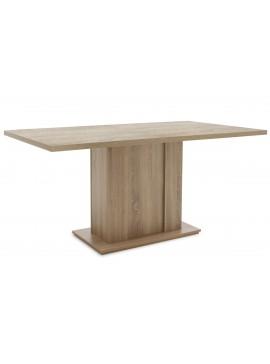 Τραπέζι Federico pakoworld ορθογώνιο χρώμα sonoma 160x90x75,5cm 043-000079