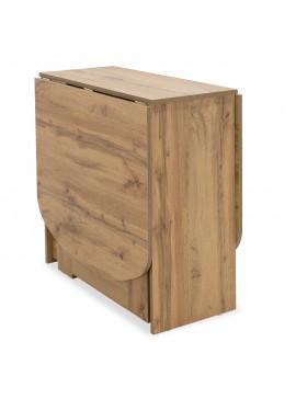 Τραπέζι Julian pakoworld πολυμορφικό-επεκτεινόμενο χρώμα gold oak 80x37x75,5εκ 043-000082