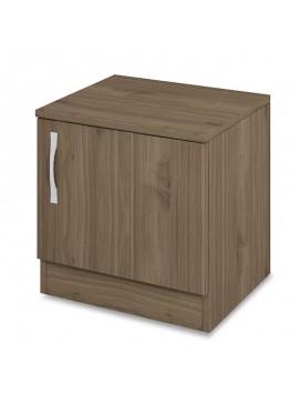 Κομοδίνο Deco pakoworld με ένα ντουλάπι χρώμα καρυδί 40x35,5x41εκ 043-000102