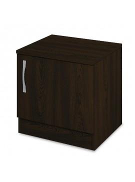Κομοδίνο Deco pakoworld με ένα ντουλάπι χρώμα wenge 40x35,5x41εκ 043-000104