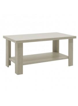 Τραπέζι σαλονιού RIANO pakoworld χρώμα γκρι-λευκό 89,5x49,5x42,5εκ 049-000010