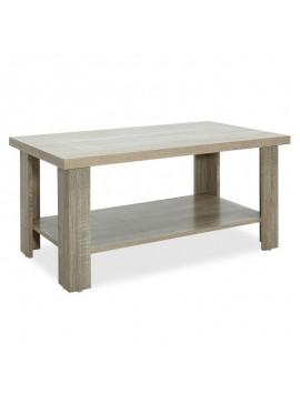 Τραπέζι σαλονιού RIANO pakoworld χρώμα sonoma 89,5x49,5x42,5εκ 049-000024