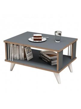 Τραπέζι σαλονιού Negro pakoworld σε χρώμα ανθρακί 70x50x40εκ 055-000204