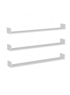 Ραφιέρα τοίχου τριών τεμαχίων Aldy pakoworld χρώμα λευκό 120x15x10εκ 055-000309