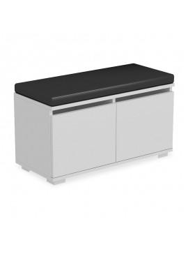 Παπουτσοθήκη-Σκαμπό Drago pakoworld 8 ζεύγων χρώμα λευκό με μαξιλάρι 80x35x45εκ 055-000313