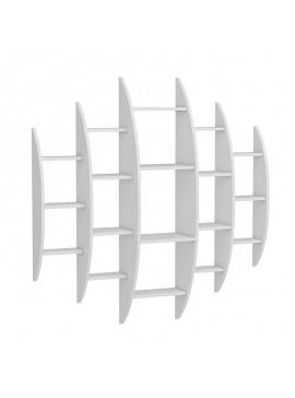 Ραφιέρα τοίχου Alvino pakoworld χρώμα λευκό 146x29x147εκ 055-000332