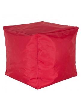 Πουφ σκαμπώ Cube pakoworld επαγγελματικό με κόκκινο αποσπώμενο 100% αδιάβροχο κάλυμμα 056-000056
