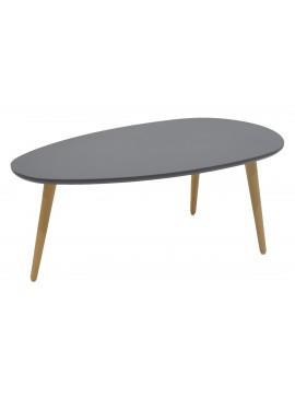 Τραπέζι σαλονιού HAMILTON pakoworld χρώμα ανθρακί φυσικό 89x48x33εκ 058-000006