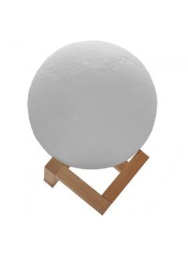 GloboStar® Επαναφορτιζόμενο Διακοσμητικό Ανάγλυφο Φωτιστικό Αφής 3D Moon 15cm 2 Χρωμάτων Ντιμαριζόμενο GloboStar 07028