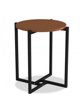 Βοηθητικό τραπέζι σαλονιού PWF-0051 pakoworld χρώμα ginger 49x54x60εκ 071-000119
