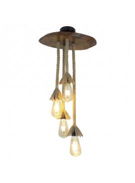 Φωτιστικό οροφής PWL-0007 pakoworld χρώμα καρυδί 38x18x65εκ 071-000136