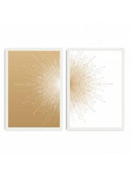 Πίνακας σε mdf PWF-0204 pakoworld με ξύλινο πλαίσιο-ψηφιακή εκτύπωση 2πτυχο 071-000532