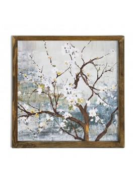 Πίνακας σε mdf PWF-0211 pakoworld με ξύλινο πλαίσιο-ψηφιακή εκτύπωση 50x3,5x50εκ 071-000539