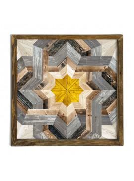 Πίνακας σε mdf PWF-0212 pakoworld με ξύλινο πλαίσιο-ψηφιακή εκτύπωση 50x3,5x50εκ 071-000540