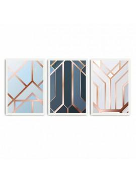 Πίνακας σε mdf PWF-0213 pakoworld με ξύλινο πλαίσιο-ψηφιακή εκτύπωση 3πτυχο 071-000541