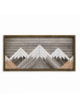 Πίνακας σε mdf PWF-0219 pakoworld με ξύλινο πλαίσιο-ψηφιακή εκτύπωση 120x3,5x60εκ 071-000547
