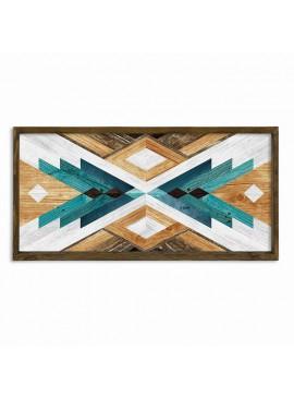 Πίνακας σε mdf PWF-0220 pakoworld με ξύλινο πλαίσιο-ψηφιακή εκτύπωση 120x3,5x60εκ 071-000548