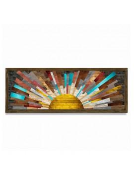 Πίνακας σε mdf PWF-0222 pakoworld με ξύλινο πλαίσιο-ψηφιακή εκτύπωση 120x3,5x43εκ 071-000553