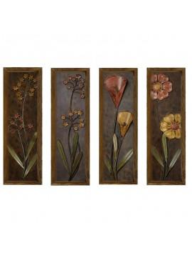 Πίνακας σε mdf PWF-0224 pakoworld με ξύλινο πλαίσιο-ψηφιακή εκτύπωση 4πτυχο 071-000555