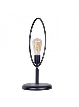 Επιτραπέζιο μεταλλικό φωτιστικό PWL-0050 pakoworld μαύρο χρώμα 17/21x49εκ 071-000567