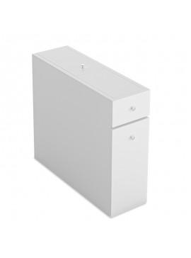 Συρταριέρα πολυμορφική μπάνιου PWF-0010 pakoworld χρώμα λευκό 19x60x55εκ 071-000579