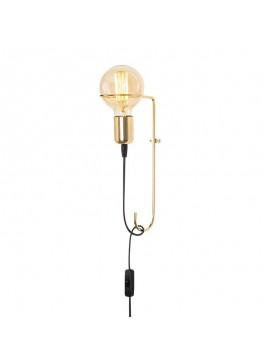 Φωτιστικό τοίχου - απλίκα PWL-0055 pakoworld Ε27 χρώμα χρυσό 15x9x30εκ 071-000667