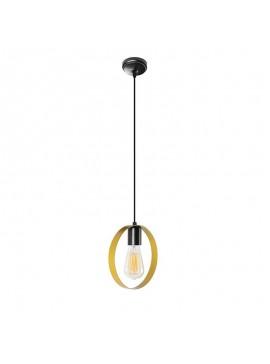 Φωτιστικό οροφής PWL-0056 pakoworld χρώμα χρυσό-μαύρο 20x5x113εκ 071-000668