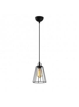 Φωτιστικό οροφής PWL-0058 pakoworld Ε27 χρώμα μαύρο Φ15x116εκ 071-000670